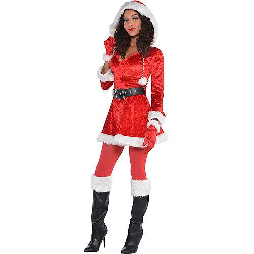 Adult Sassy Red Santa Costume Image #1
