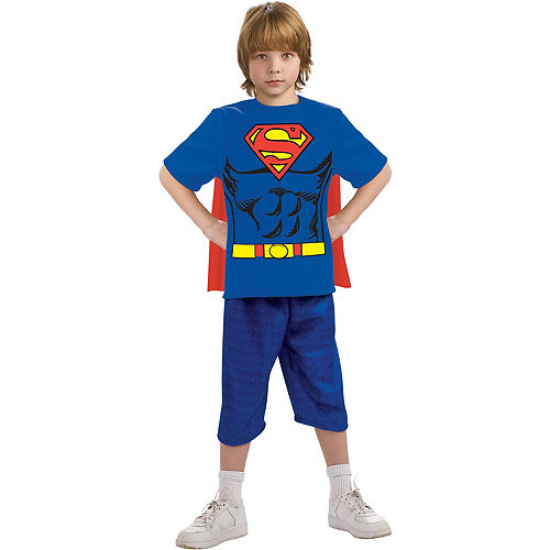 Boys Superman T-Shirt with Cape Image #1