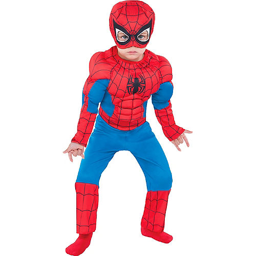 Toddlers' Spider-Man Deluxe Muscle Costume Image #1
