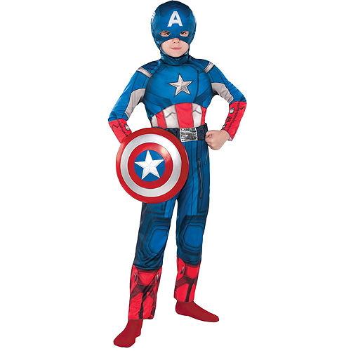 Boys Captain America Classic Costume Image #1