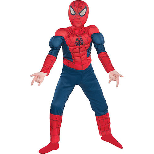 Boys Classic Spider-Man Muscle Costume Image #1