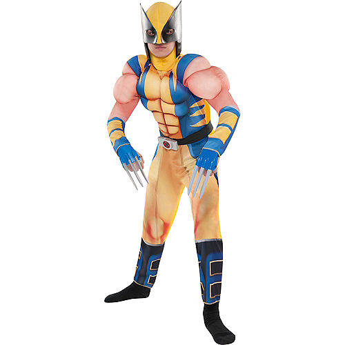 Boys Wolverine Muscle Costume Image #1