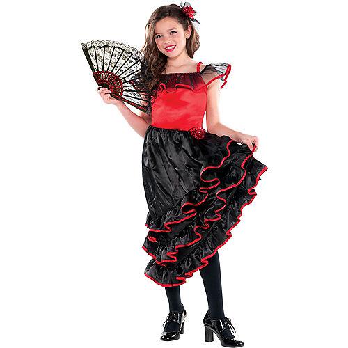 Girls Spanish Dancer Costume Image #1
