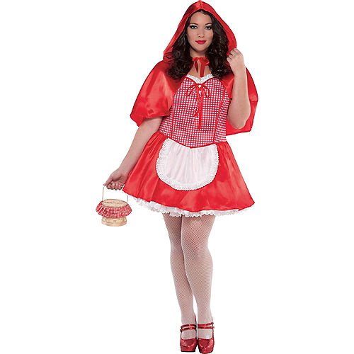 Adult Miss Red Riding Hood Costume Plus Size Image #1