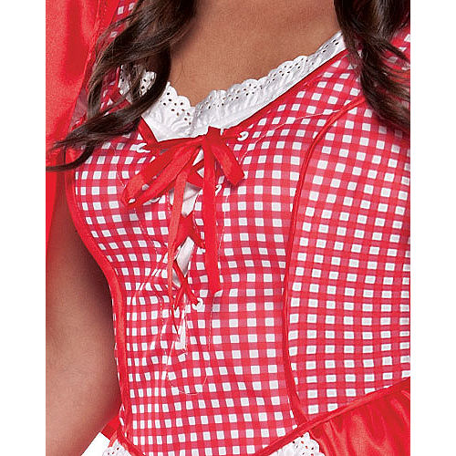 Adult Miss Red Riding Hood Costume Image #3