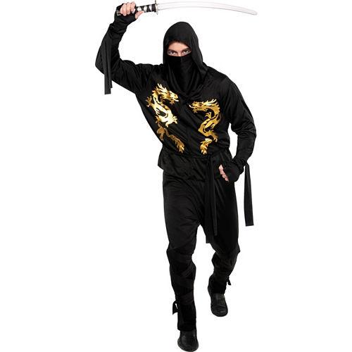 Adult Black Dragon Ninja Costume Image #1