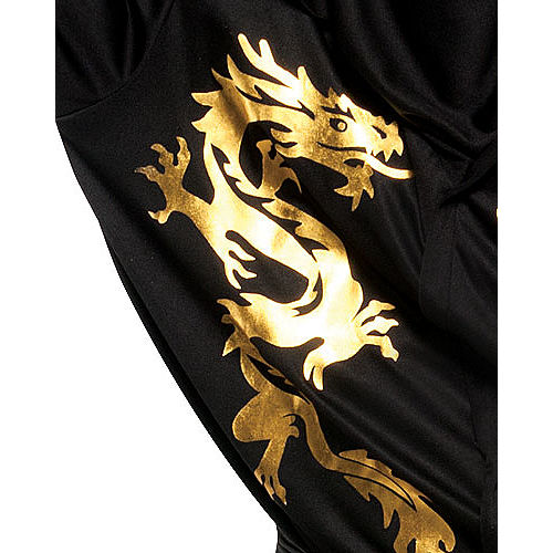 Adult Black Dragon Ninja Costume Image #2