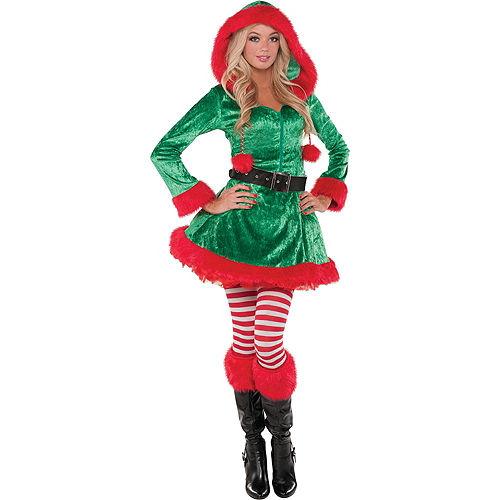 Adult Sassy Elf Costume Image #1