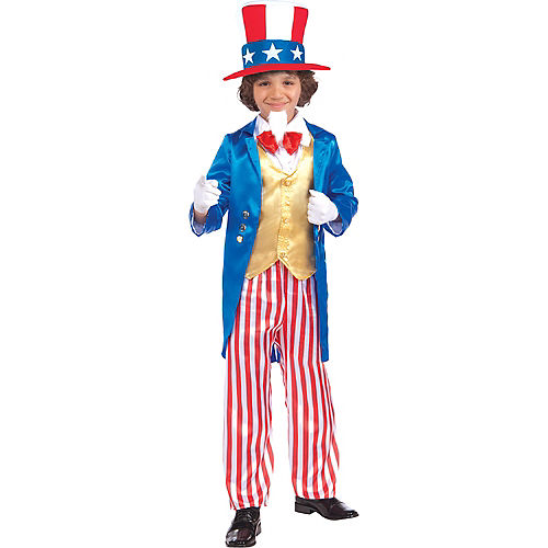Boys Uncle Sam Costume Deluxe Image #1