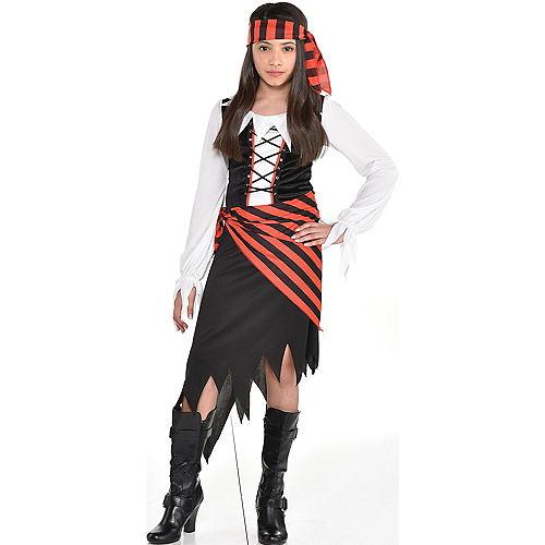 Girls Buccaneer Beauty Pirate Costume Image #1