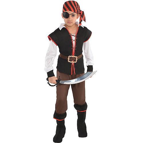 Boys Rebel of the Sea Pirate Costume Image #1