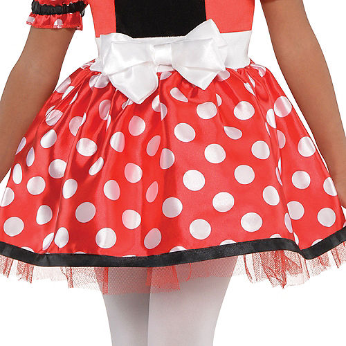 Girls Red Minnie Mouse Costume Image #3