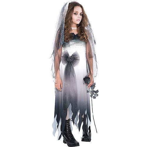 Girls Graveyard Bride Costume Image #1