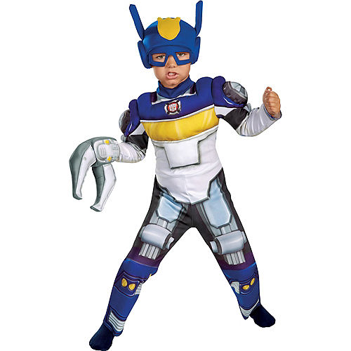 Toddler Boys Chase Muscle Costume - Transformers Rescue Bots Image #1