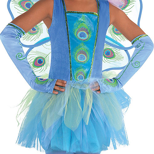 Girls Princess Peacock Costume Image #2