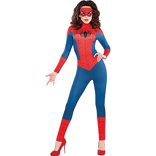 Adult Sexy Spider-Girl Catsuit Costume Image #1