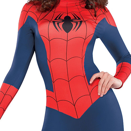 Adult Sexy Spider-Girl Catsuit Costume Image #3