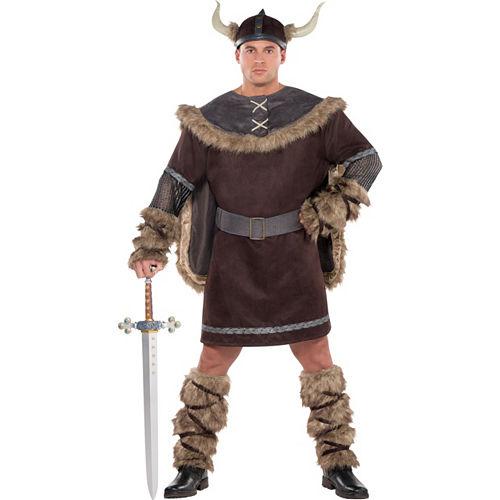 Adult Viking Warrior Costume Plus Size Image #1