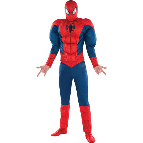 Adult Classic Spider-Man Muscle Costume Image #1