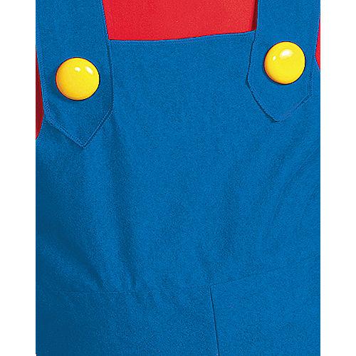 Adult Mario Costume Plus Size Premium - Super Mario Brothers Image #3
