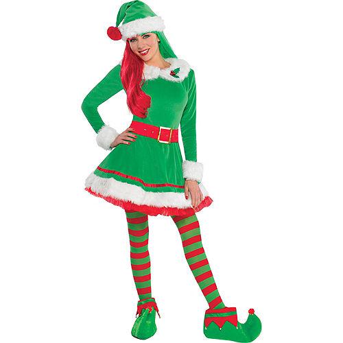 Adult Green Elf Costume Image #1