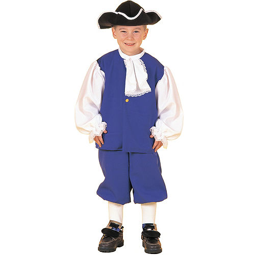 Boys Blue Colonial Costume Image #1