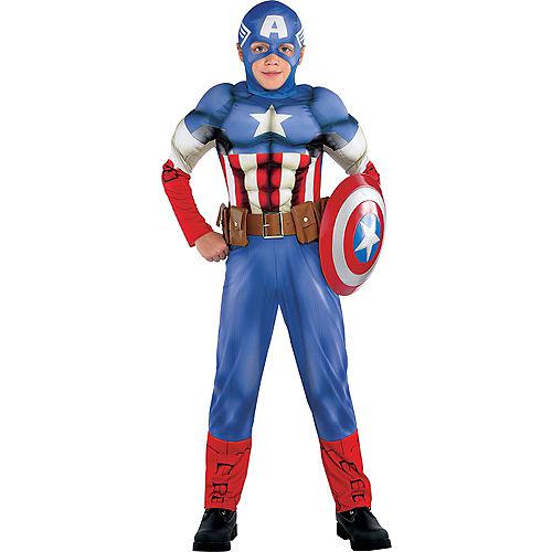 Boys Captain America Muscle Costume Classic Image #1