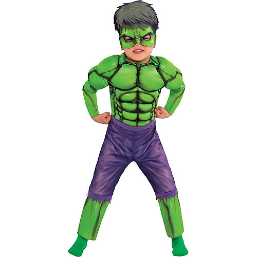 Toddler Boys Hulk Muscle Costume Classic Image #1