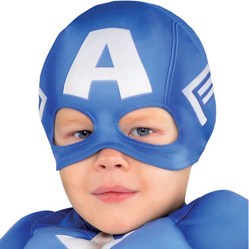 Toddler Boys Captain America Muscle Costume Classic Image #2