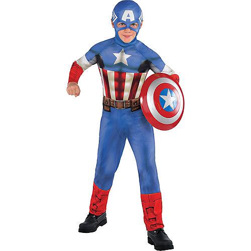 Boys Captain America Costume Classic Image #1