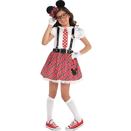 Girls Minnie Mouse Nerd Costume Image #1