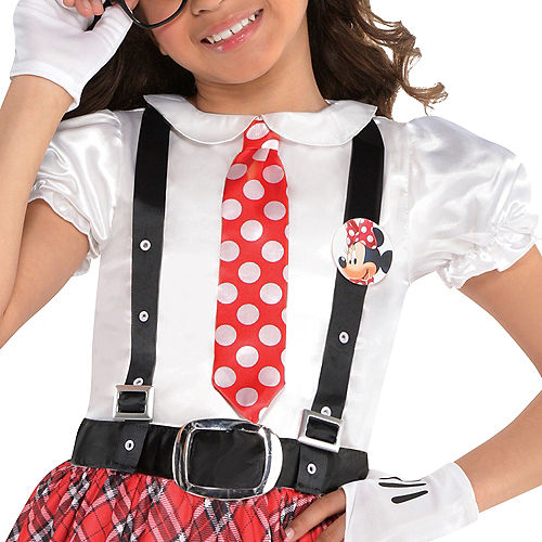 Girls Minnie Mouse Nerd Costume Image #2