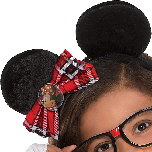 Girls Minnie Mouse Nerd Costume Image #4