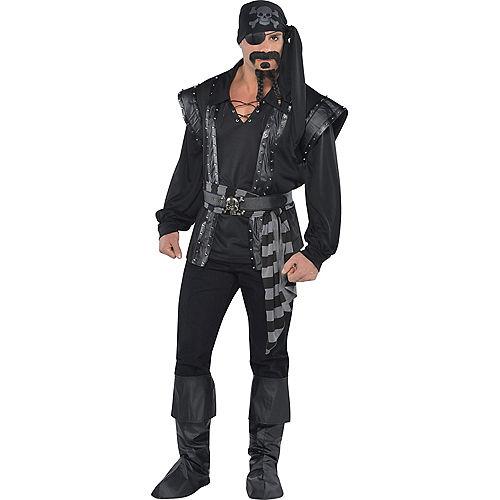 Adult Dark Sea Scoundrel Pirate Costume Image #1