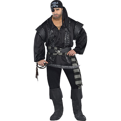 Adult Dark Sea Scoundrel Pirate Costume Plus Size Image #1