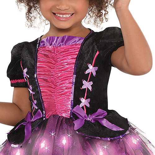 Girls Light-Up Sparkle Witch Costume Image #3