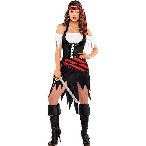 Adult Rogue Maiden Pirate Costume Image #1