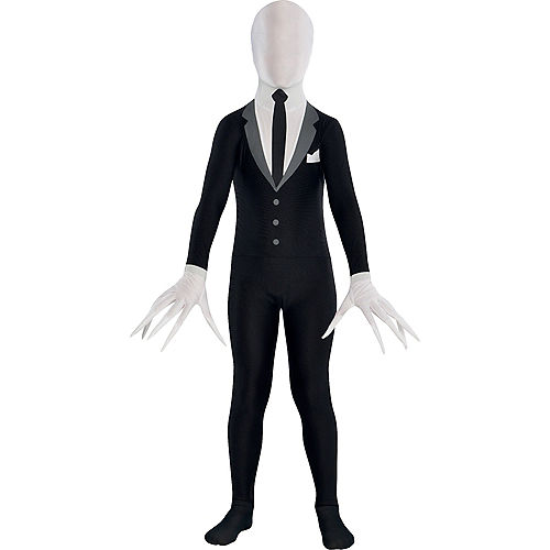 Child Slender-Man Partysuit Image #1