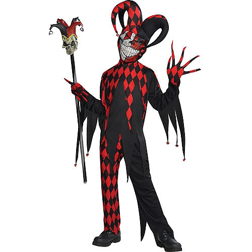 Boys Krazed Jester Costume Image #1