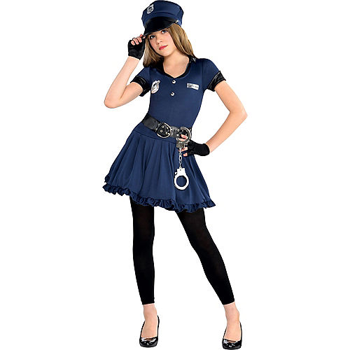 Girls Cutie Cop Costume Image #1