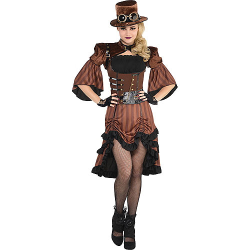 Adult Steamy Dreamy Steampunk Costume Image #1