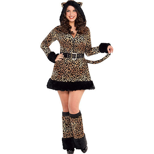Adult Pretty Kitty Costume Plus Size - Cat Image #1