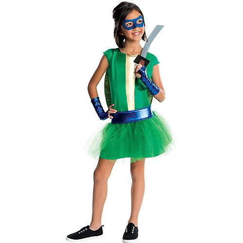 Girls Leonardo Costume Deluxe - Teenage Mutant Ninja Turtles Image #1