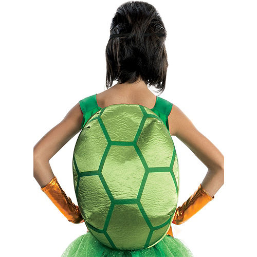 Girls Michelangelo Costume Deluxe - Teenage Mutant Ninja Turtles Image #2