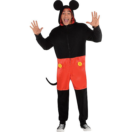 Zipster Mickey Mouse One Piece Costume Image #1