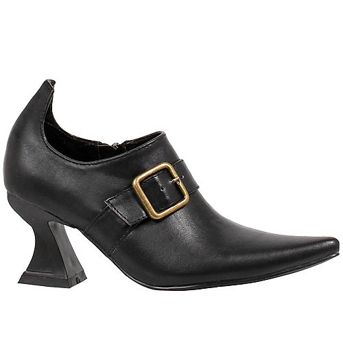Adult Black Witch Ankle Boots Image #1