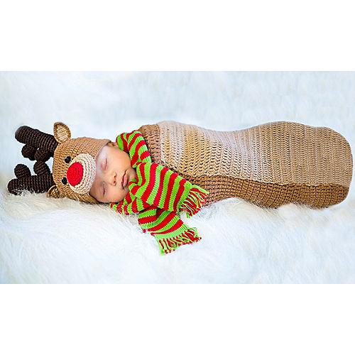 Baby Crochet Cocoon Randolph Reindeer Costume Image #1