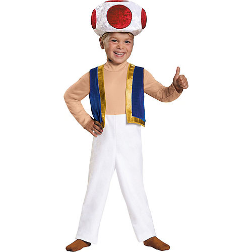 Toddler Boys Toad Costume - Super Mario Brothers Image #1
