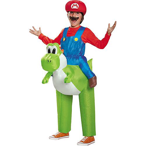 Boys Mario Yoshi Ride-On Costume - Super Mario Brothers Image #1