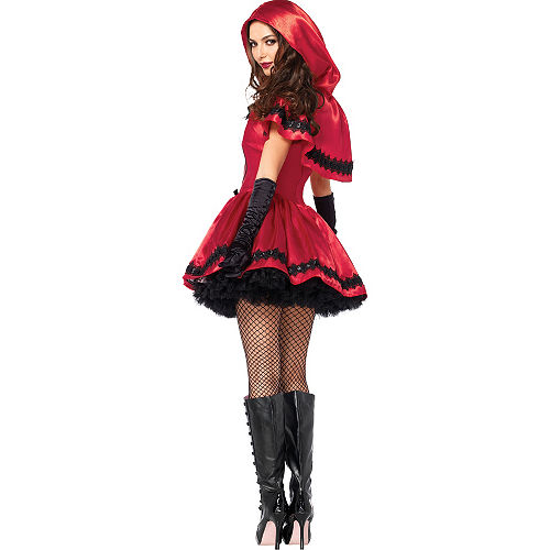 Adult Gothic Red Riding Hood Costume Image #4